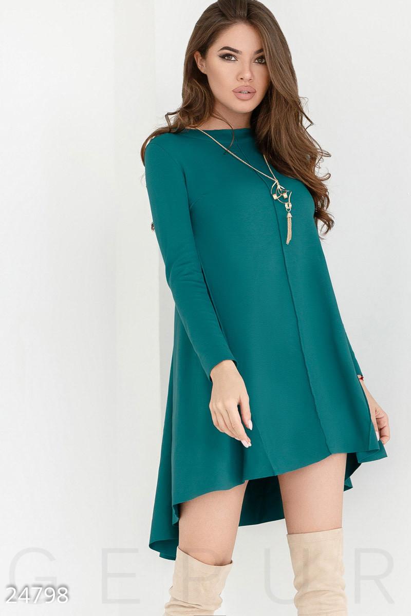 0925894d375 Трикотажное платье-клеш. Все размеры. Цвет бирюзовый. - Гарна пані - е