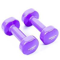 Гантели для фитнеса IRONMASTER 2 по 3,5 кг. (сиреневый)