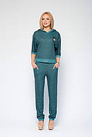Зеленый модный спортивный костюм Марин