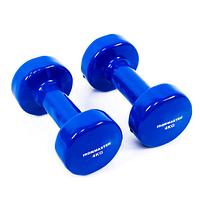 Гантели для фитнеса IRONMASTER 2 по 4 кг. (синий)