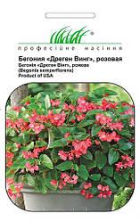 Семена бегонии Дрегон Винг F1 розовая 5 шт, Pan American flowers