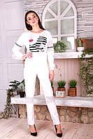 Белый модный спортивный костюм Шанталь