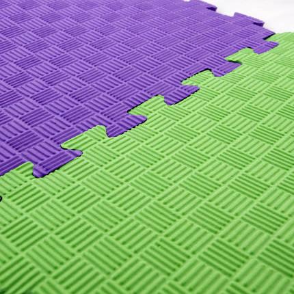 Детский игровой коврик-пазл (мат татами, ласточкин хвост) OSPORT 50cм х 50cм толщина 10мм (FI-0009) 1 шт, фото 2