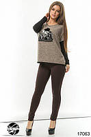 Модный женский джемпер с паетками