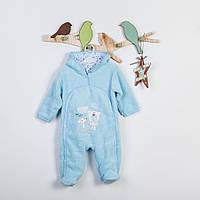 Комбинезон детский махровый голубой