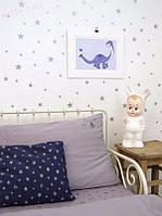 Набор наклеек ☆SILVER STARS☆, Звезды серебро,  размер 12 х 8 х 4 см, 29 шт.