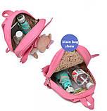 Рюкзак дитячий з іграшкою ведмежам для дівчинки (рожевий), фото 10
