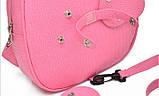 Рюкзак дитячий з іграшкою ведмежам для дівчинки (рожевий), фото 8