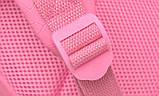 Рюкзак дитячий з іграшкою ведмежам для дівчинки (рожевий), фото 9