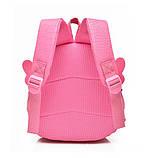 Рюкзак дитячий з іграшкою ведмежам для дівчинки (рожевий), фото 5