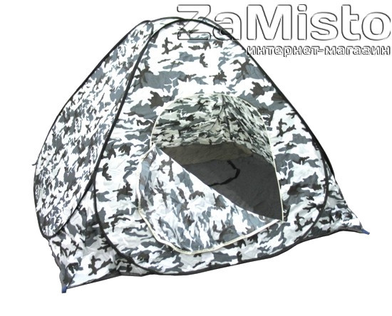 Палатка автомат (белый камуфляж) с дном