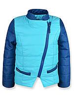 """Куртка для девочек """"Катрин"""" (Голубая) (92)"""