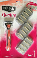 Сменные кассеты Schick Quattro for Women Blades, 13 штук в упаковке, из США, фото 1