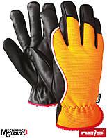 Перчатки REIS RMC-Winmicros зимние, кожа + мембрана. Для лыжников, сноубордистов, рыбаков