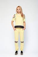 Стильный спортивный костюм Николет желтый