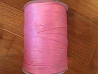 Косая бейка 1,5см розовая атласная