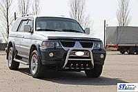 Передня нержавіюча захист до Mitsubishi Pajero Sport 1996-2007 рр.