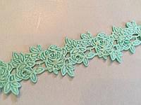 Тесьма декоративная Роза 2см мятная