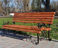 Скамья парковая деревянная Юлия 1,5м, фото 1