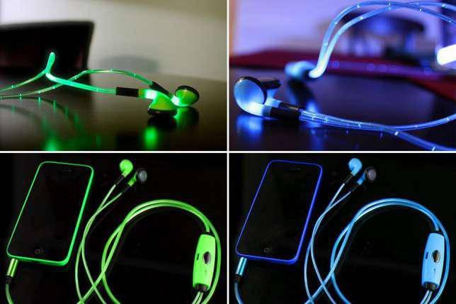 Светящиеся LED наушники Lighted Earphone, фото 2
