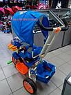 Детский трехколесный велосипед Baby Club Кунг-фу панда синий, фото 5