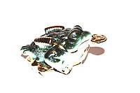 Серо-Зеленая  Трехлапая Жаба Богатства (Фаянс)