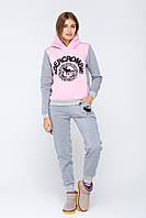 Женский спортивный костюм теплый Кантара розовый