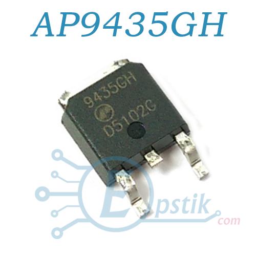 AP9435GH, Mosfet транзистор P-канал, 30В 20А, TO252