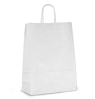 Крафт пакет белый с ручками малый 280х190х120см
