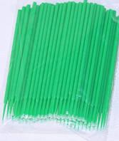 Микробраши для ресниц, зеленые №100