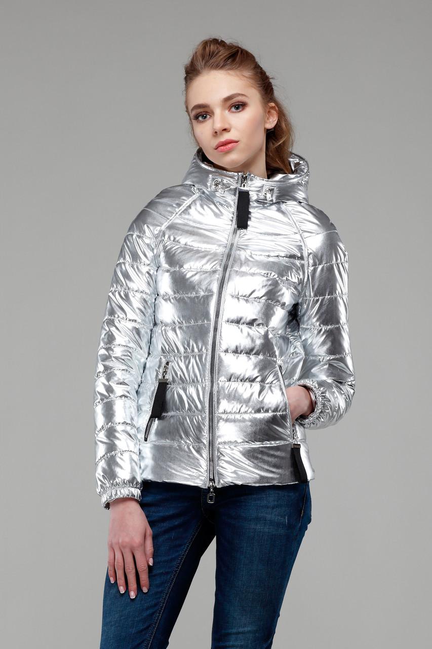 Яркая куртка, цвет серебро