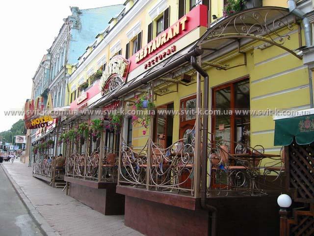 ПМП «Интергейтс» - терраса ресторана из сотового поликарбоната Полигаль