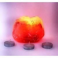 Подсвечник соляной 0,8кг. (Natural)(S-005)(12 шт ящ.)(Гималайская соль)