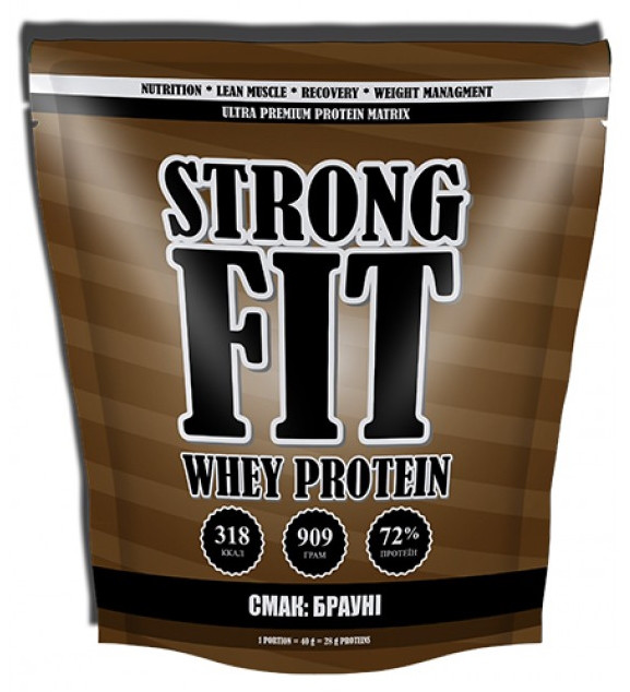Сывороточный протеин Strong Fit Brutto - Whey Protein (909 грамм) chocolate/шоколад