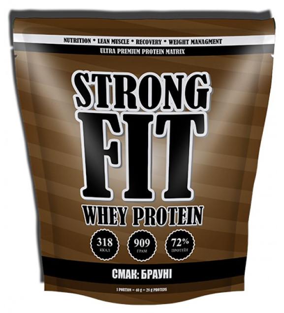 Сывороточный протеин Strong Fit Brutto - Whey Protein (909 грамм)