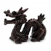 Дракон с рогом каменная крошка коричневый (8х10 см)