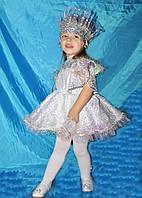 Карнавальные новогодние костюмы детские Снежинка 1 на 1,2,3,4 года