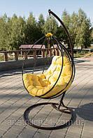 Подвесное кресло Украинские Конструкции Adel Шоколад-Желтая (NK-12997179)