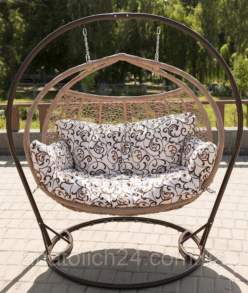 Подвесное кресло  Galant Кофе-Орнамент