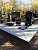 Реставрация старой площадки и установка памятника на дозахоронении