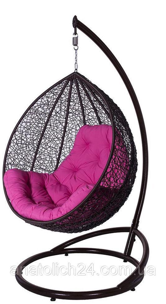 Подвесное кресло Гарди Биг  Шоколад-Розовая