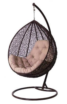 Подвесное кресло Гарди Биг  Шоколад-Розовая , фото 2