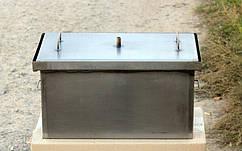 Коптильня черный метал  с гидрозатвором, S=1.5mm 520x300x280мм