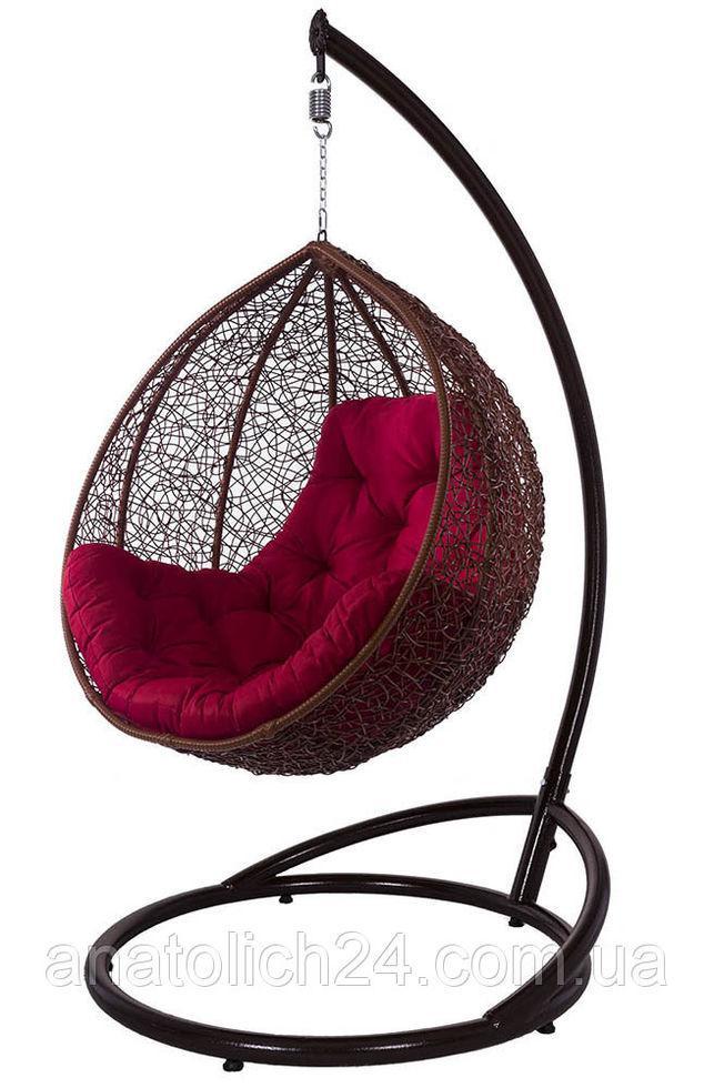 Подвесное кресло Gardi Коньяк-Красная