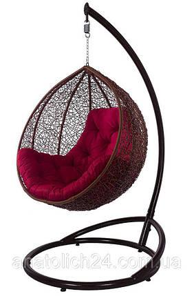 Подвесное кресло Gardi Коньяк-Красная , фото 2