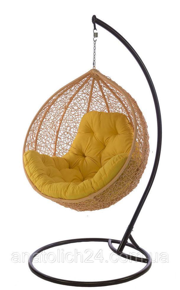 Подвесное кресло Gardi Персик-Желтая