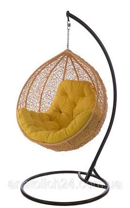 Подвесное кресло Gardi Персик-Желтая , фото 2