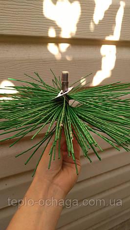Щетка для чистки дымохода пластик под резьбу 150 мм, фото 2