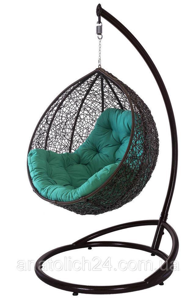Подвесное кресло Gardi Шоколад-зеленая