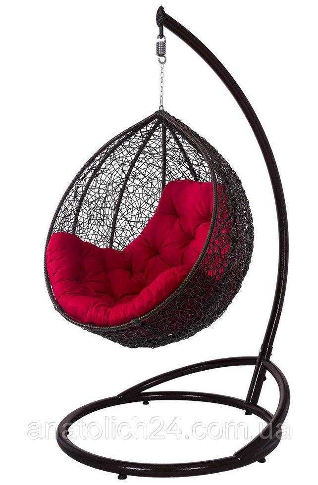 Подвесное кресло Gardi Шоколад-Красная